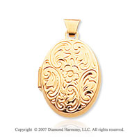 14k Yellow Gold Classic Elegance Polished Oval Locket