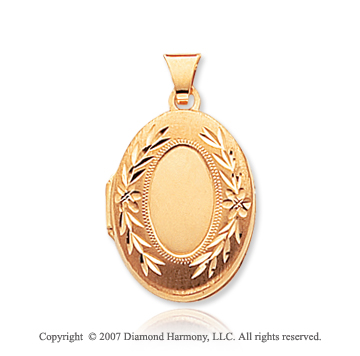 14k Yellow Gold Modern Classic Signet Locket