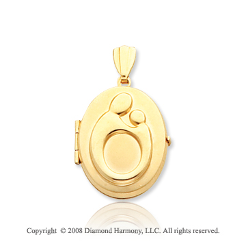 14k Yellow Gold Mother and Child� Oval Locket