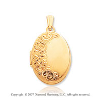 14k Yellow Gold Grand Elegance Oval Locket