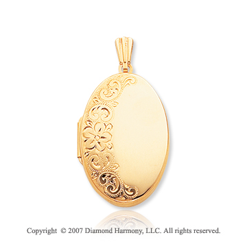 14k Yellow Gold Grand Elegance Polished Oval Locket