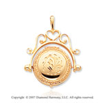 14k Yellow Gold Elegant Domed Round Locket