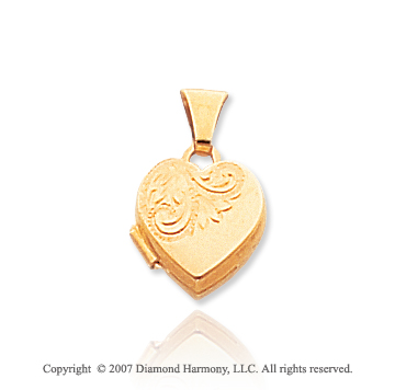 14k Yellow Gold Simple Elegance Heart Locket