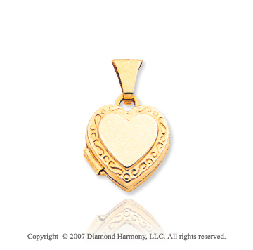 14k Yellow Gold Great Stylish Heart Locket