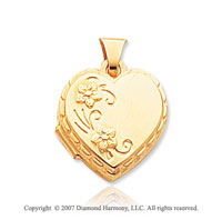 14k Yellow Gold Love You Always Heart Locket