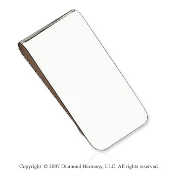 Plain Fashionable Sturdy Sterling Silver Money Clip