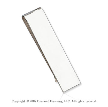 Plain Slim Classic Style Sterling Silver Money Clip