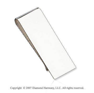 Classic Fashionable Slim Sterling Silver Money Clip