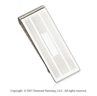Carved Stylish Durable Fine Sterling Silver Money Clip