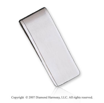 Sleek Classic Style Durable Stainless Steel Money Clip