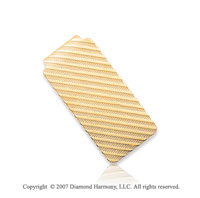 14k Yellow Gold Carved Linear Fashion 1 inch Money Clip