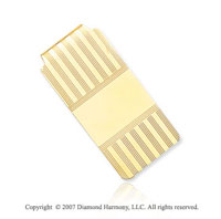 14k Yellow Gold Stylish Grand 1 inch Men's Money Clip