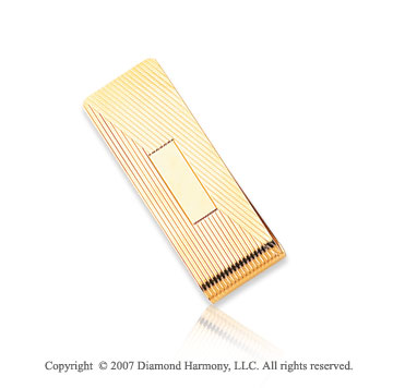 14k Yellow Gold Modern Fashionable Men's Money Clip