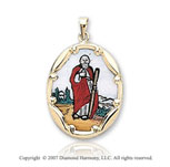 14k Yellow Gold Small St. Jude Medal