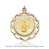 14k Yellow Gold Divine Devotion Small Miraculous Medal