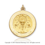 14k Yellow Gold Large Confirmation Medal
