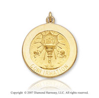 14k Yellow Gold Medium Confirmation Medal