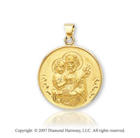 14k Yellow Gold Classic Elegant Medium St. Joseph Medal