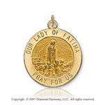 14k Yellow Goldold Devotion Carved Our Lady of Fatima Medal