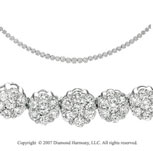 14k White Gold Eternal 3.15 Carat Diamond Necklace