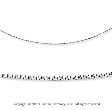 14k White Gold Single Strand 1mm Mirror Spring Necklace