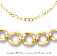 15g Alluring Linking Loops 14k Gold Necklace