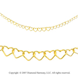 Graduated Hearts Spring Ring 14k Yellow Gold Necklace