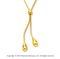 Little Swimmers 14k Yellow Gold Lariat Necklace