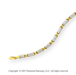 Diamond Cut Modified XOXO 14k Two Tone Gold Necklace