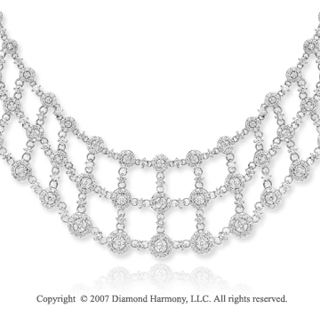 14k White Gold Royal Grace 6.65 Carat Diamond Necklace
