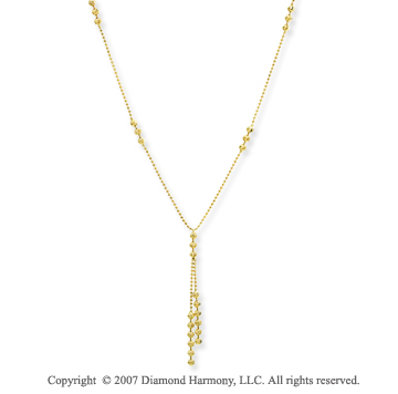 14k Yellow Gold Fine Elegance 18 Inch Stylish Necklace