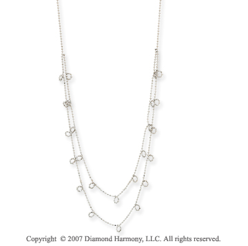 14k White Gold Elegant 17 Inch Fashionable Necklace