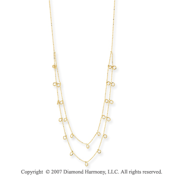 14k Yellow Gold Fine Elegance 17 Inch Stylish Necklace