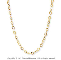 14k Yellow Gold 42 Inch Convertible Anchor Necklace
