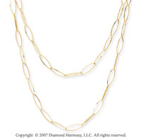 14k Yellow Gold 36in Convertible Contempo Link Necklace