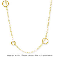14k Yellow Gold Elegant 36 Inch Convertible Necklace