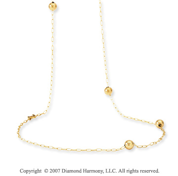 14k Yellow Gold 36in Convertible Etruscan Necklace