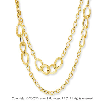 14k Yellow Gold Classy 36 Inch Convertible Necklace