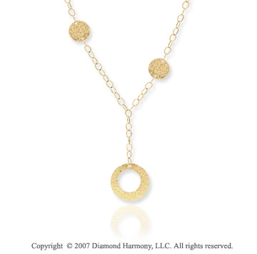 14k Yellow Gold 18 Inch Etruscan Contempo Necklace