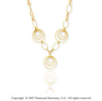 14k Yellow Gold 18 20 Inch Tuscan Contempo Necklace