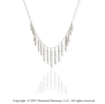 14k White Gold Elegant Fashion 18in Cleopatra Necklace