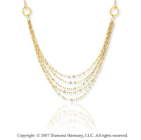14k Two Tone Gold Convertible 2 Strand Rosario Necklace