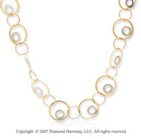 14k Yellow Gold 40in Multiple Circle Fashion Necklace