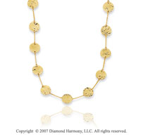 14k Yellow Gold 38in Fine Circles Convertible Necklace