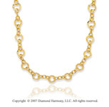 14k Yellow Gold Elegant Circles Convertible Necklace