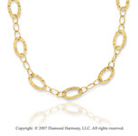 14k Yellow Gold 38in Classy Ovals Convertible Necklace