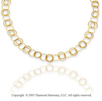 14k Yellow Gold 38in Grand Rings Convertible Necklace
