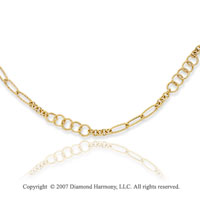 14k Yellow Gold 38in Fine Fashion Convertible Necklace