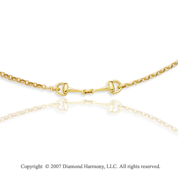 14k Yellow Gold 17 Inch Great Elegance Fine Necklace