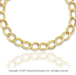 14k Yellow Gold 18 Inch Elegant Oval Links Necklace